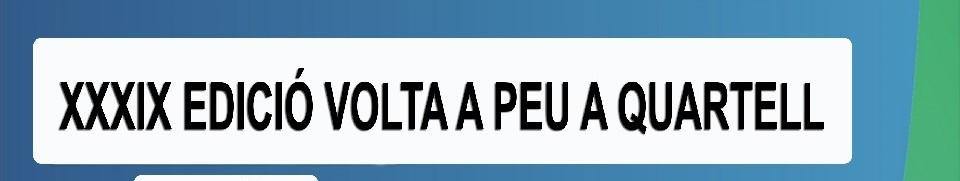 XXXIX VOLTA A PEU A QUARTELL 2019